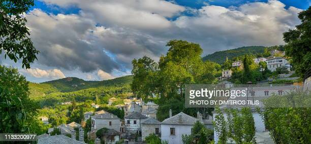 pinakates panorama - volos stock pictures, royalty-free photos & images