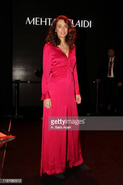 Pinar Tezcan attends the MercedesBenz Fashion Week Istanbul March 2019 at Zorlu Center on March 20 2019 in Istanbul Turkey
