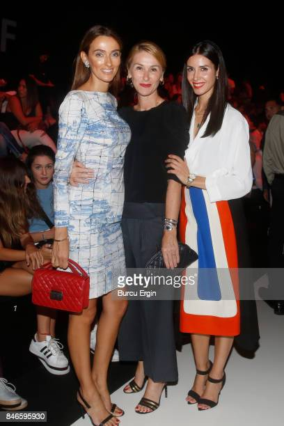 Pinar Tezcan Elif Brav Misirli and Ahu Yagtu are seen during MercedesBenz Istanbul Fashion Week September 2017 at Zorlu Center on September 13 2017...