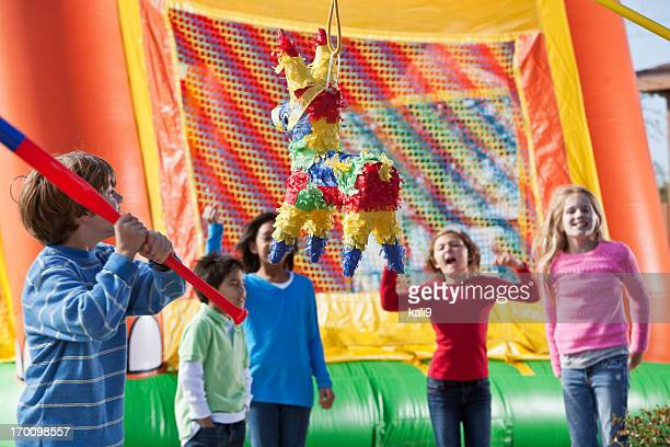 Piñata im children's birthday party