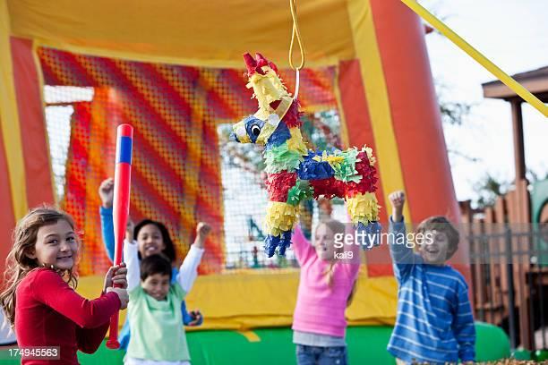 Pinata at children's birthday party
