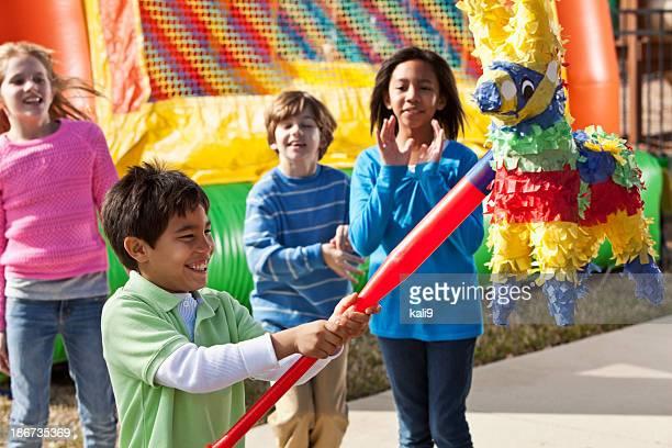Piñata im children's birthday party