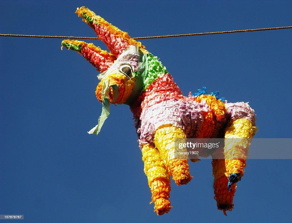 Pinata Donkey Papier-mache : Stock Photo