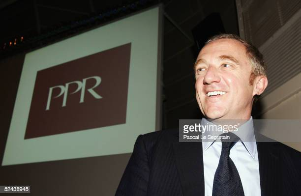 PinaultPrintempsRedoute incoming CEO FrancoisHenri Pinault poses during the presentation of the annual results for 2004 on March 17 2005 in Paris...