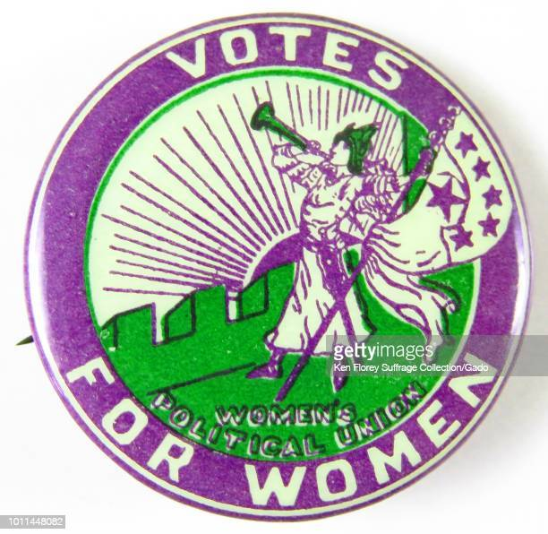 Pinback button reading Votes for Women advocating for Women's Suffrage from the Women's Political Union 1910