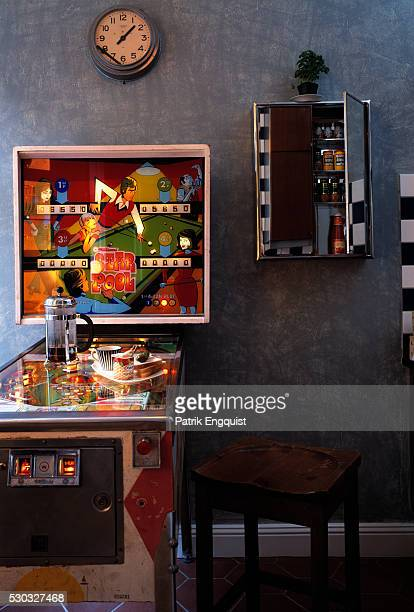 Pinball Machine Used as a Table