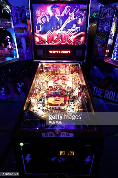 Pinball machines are seen at the 2016 GRAMMY Celebration during The 58th GRAMMY Awards at Los Angeles Convention Center on February 15 2016 in Los...