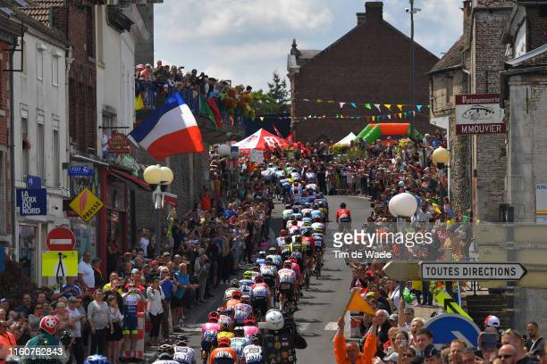 Épine City / Peloton / Landscape / Fans / Public / during the 106th Tour de France 2019, Stage 3 a 215km stage from Binche to Épernay 129m / TDF /...