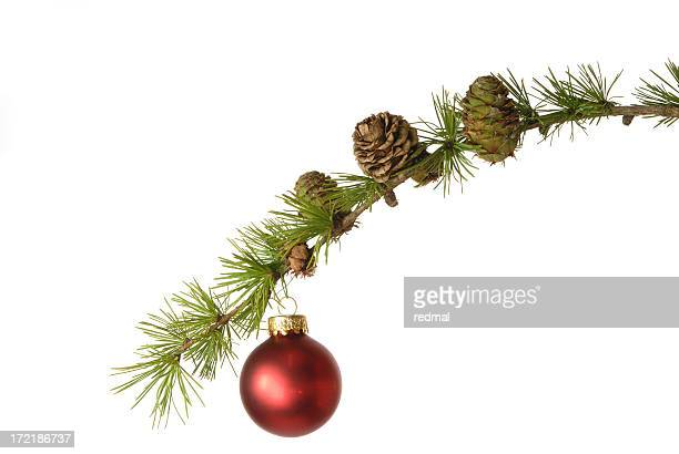 pine cone and bauble