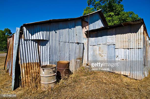 An rugged antique Top End bakery made of corrugated galvanised iron.