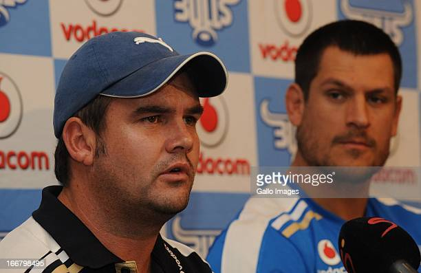 Pine Pienaar during the Vodacom Bulls training session and press conference at Loftus Versfeld on April 17, 2013 in Pretoria, South Africa.