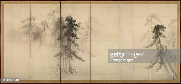Pine Trees 16th century Found in the collection of the Tokyo National Museum