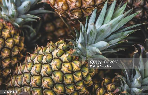 pineapple background - pineapple stock pictures, royalty-free photos & images