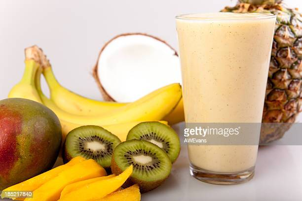 Pineapple, coconut, fruit smoothie