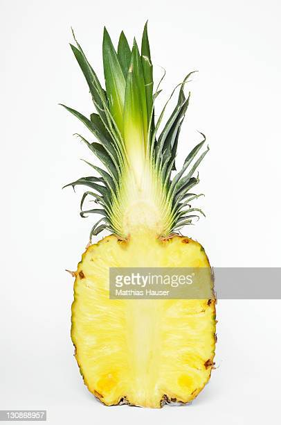Pineapple (Ananas comosus), cut-open