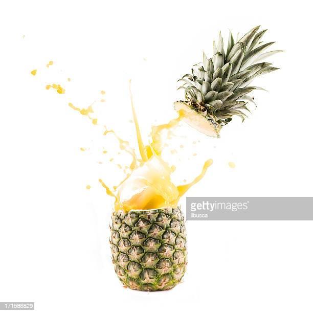 explosion splash de jus d'ananas