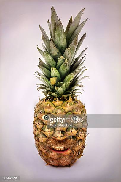 pineapple face - scott macbride stock pictures, royalty-free photos & images