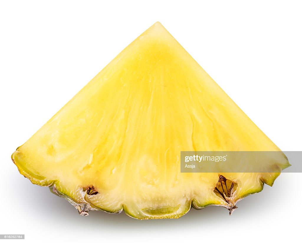 Pineapple isolated on white background with clipping path : Foto de stock