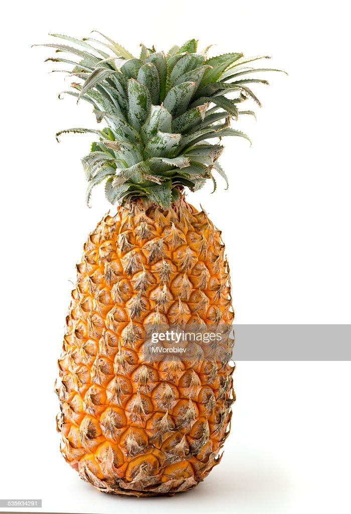 pineapple isolated on white : Stock Photo