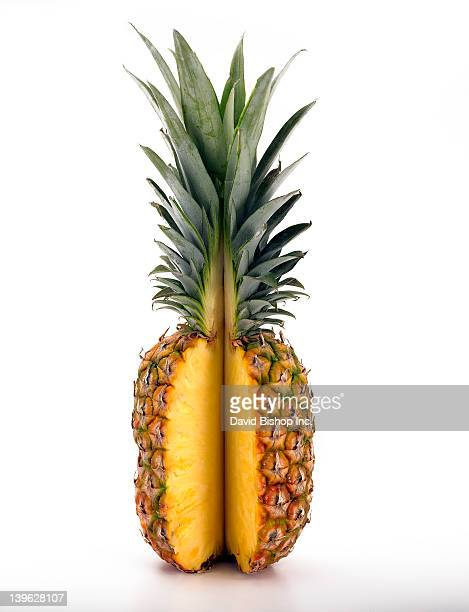 Pineapple with Slice Removed
