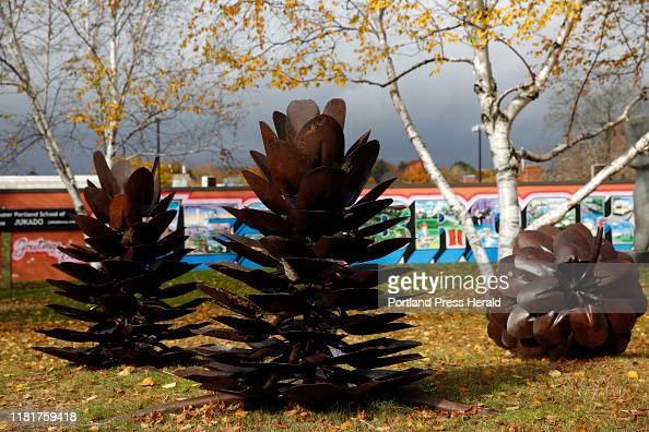 Pinecones A 2019 Sculpture By Patrick A Plourde At The New Warren News Photo Getty Images