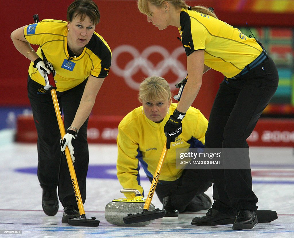 Anette Norberg swedish skip anette norberg releases the stone during the