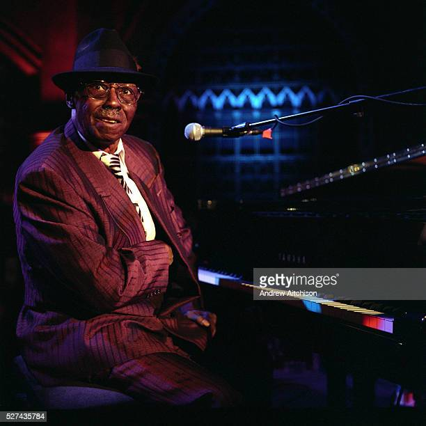 Pinetop Perkins the 90 year old Blues musician from Mississippi America playing live at the Union Chapel Highbury London