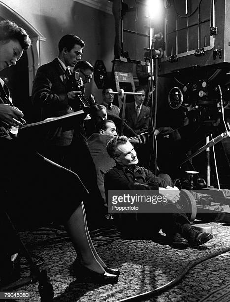 1951 Pinewood Studios England A picture from behind the scenes of the production of the film adaptation of Oscar Wilde's famous play 'The Importance...