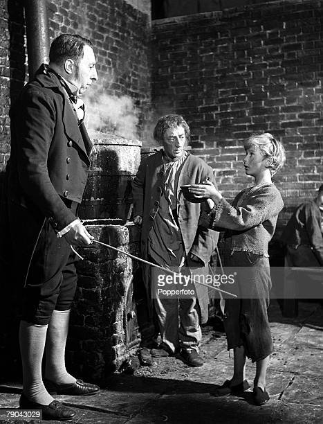 1947 Pinewood Studios London England A film still from the movie version of the novel Oliver Twist by Charles Dickens Pictured is Oliver played by...