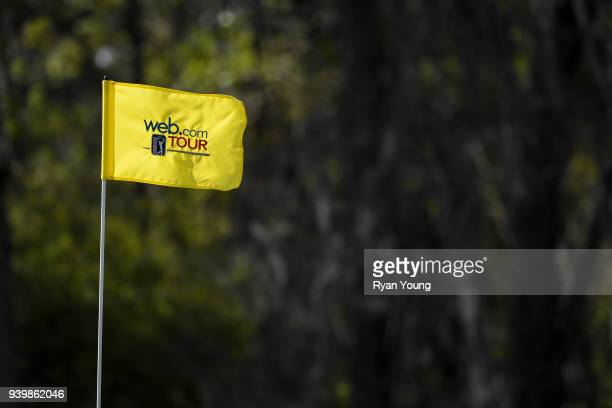 A ping flag is seen during the first round of the Webcom Tour's Savannah Golf Championship at the Landings Club Deer Creek Golf Course on March 29...