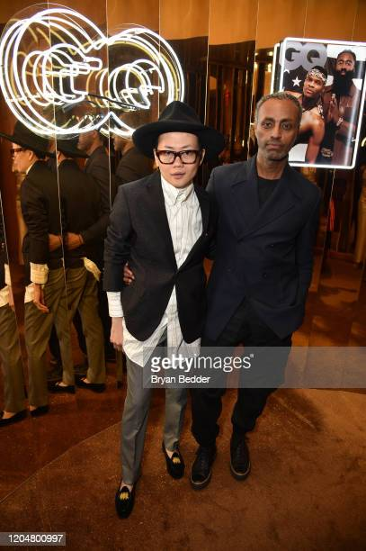 Ping Pong and Desta attend the GQ March Cover Party at The Standard Highline on March 01 2020 in New York City