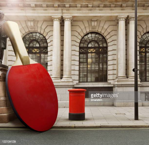 Ping pong paddle in . London