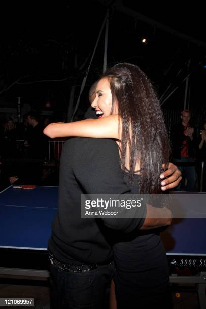 Pingpong champion Soo Yeon Lee and actor Jamie Foxx attend the SPiN NYC PreOscar Party at Mondrian LA's SKYBAR on March 4 2010 in West Hollywood...
