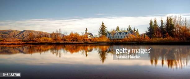 Pingvellir autumn colours and reflections