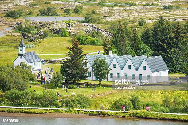 pingvellir in iceland - thingvellir national park stock photos and pictures