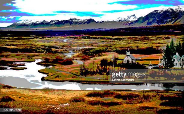 pingvellir national park - pingvellir national park stock photos and pictures