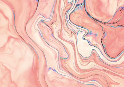 Pink abstract painted marble illustration - gettyimageskorea