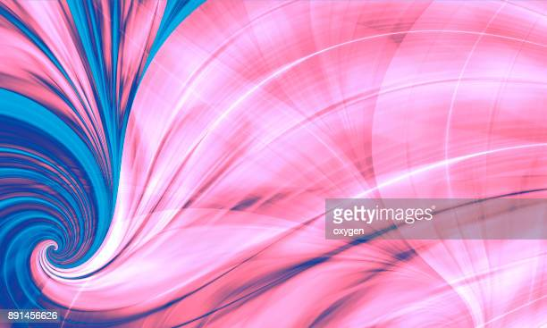 Pink and Blue Abstract Background, Flame Feather