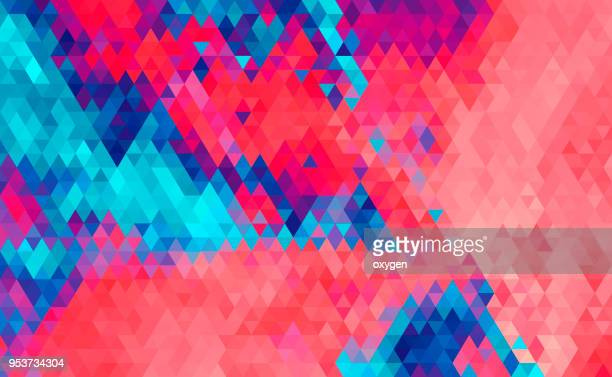 Pink and blue triangular abstract background