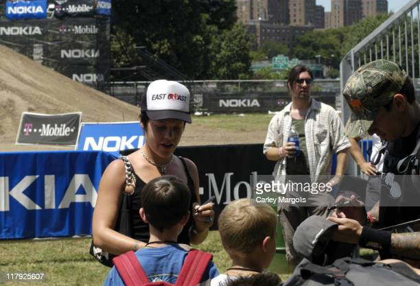 Pink and boyfriend Carey Hart during The Nokia TMobile Ramps Amps Invitational Presented by EXPNcom at Randalls Island in New York City New York...