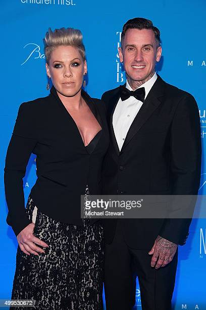 Pink and Carey Hart attend the 11th Annual UNICEF Snowflake Ball at Cipriani Wall Street on December 1 2015 in New York City