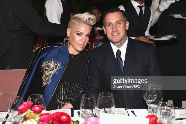 Pink and Carey Hart attend The Fashion Awards 2017 in partnership with Swarovski at Royal Albert Hall on December 4 2017 in London England
