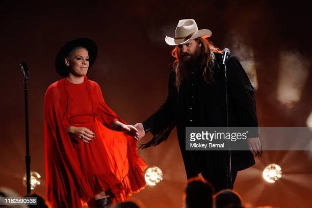 Pink and Chris Stapleton perform the 53rd annual CMA Awards at the Bridgestone Arena on November 13 2019 in Nashville Tennessee