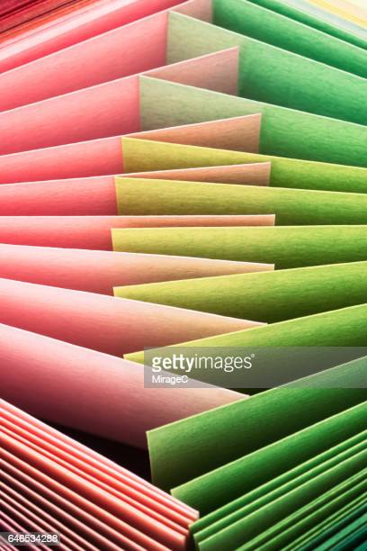 Pink and Green Paper Pages Alternating