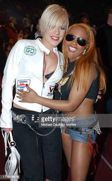 Pink and Lil' Kim during ESPN Action Sports and Music Awards Show at The Universal Amphitheater in Universal City California United States