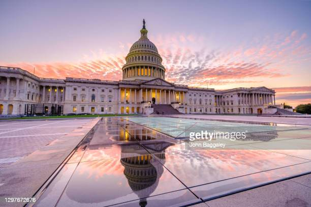 pink and purple over the capitol - washington dc stock pictures, royalty-free photos & images