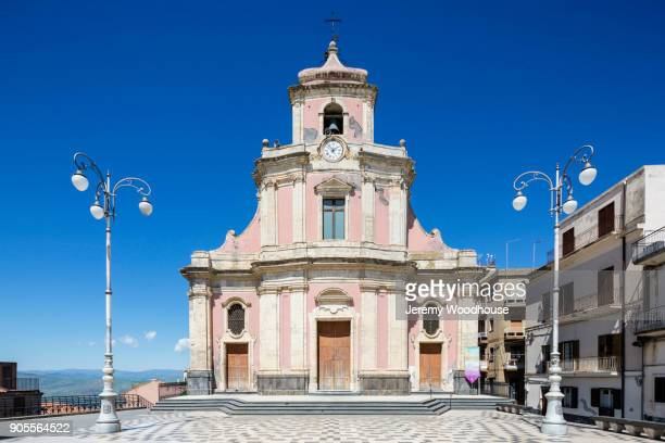 Pink and white church