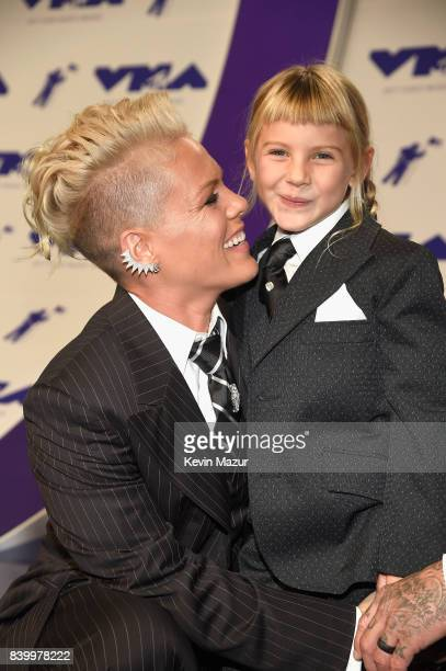 Pink and Willow Sage Hart attend the 2017 MTV Video Music Awards at The Forum on August 27 2017 in Inglewood California