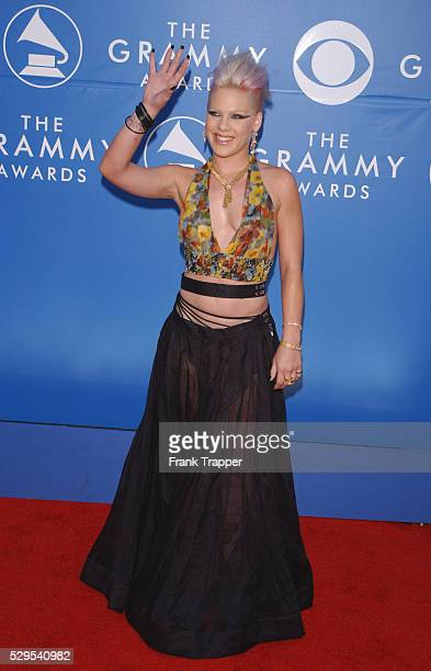 Pink arrives at the 44th annual Grammy Awards