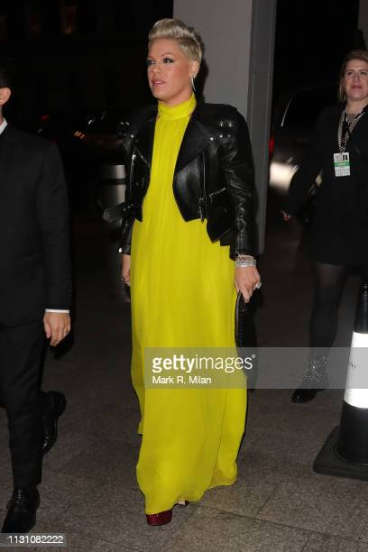 Pink attending the Sony BRITS 2019 After Party at Aquashard on February 20 2019 in London England
